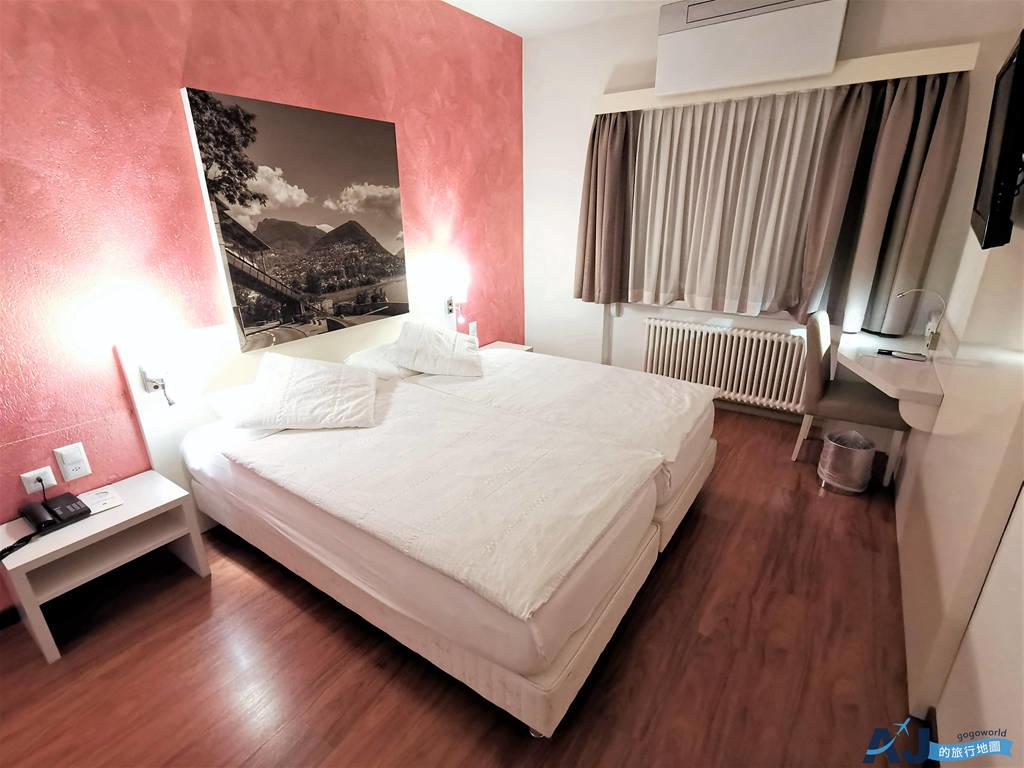 (盧加諾車站住宿推薦)瑞士水族館凱麗飯店 Acquarello Swiss Quality Hotel 標準房、早餐、交通分享