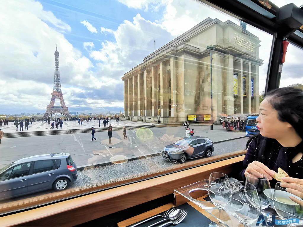 (巴黎美食)法式午餐+景點導覽巴士之旅 Bustronome Luxury Bus 有趣的餐車體驗