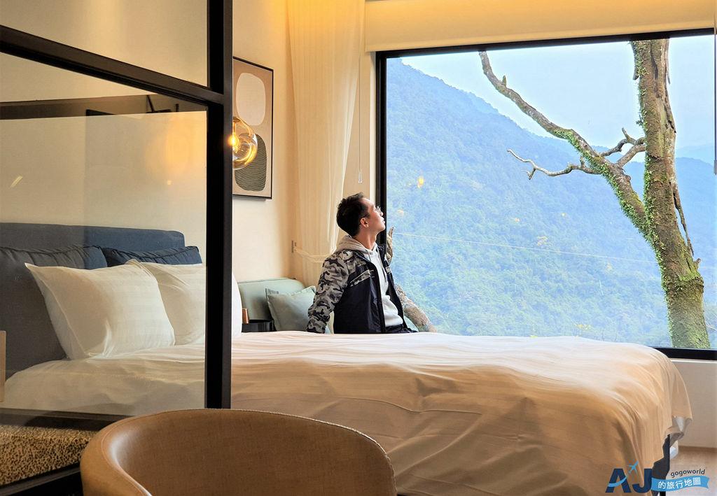 烏來旅晨溫泉民宿:文青網美最愛的時尚旅店 山景經典雙人房、早餐、交通、停車場分享