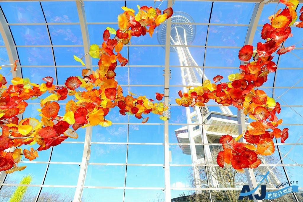(西雅圖景點)太空針塔+胡利花園及玻璃藝術館+單軌電車 西雅圖世博會園區半日遊 tripadvisor第一名景點