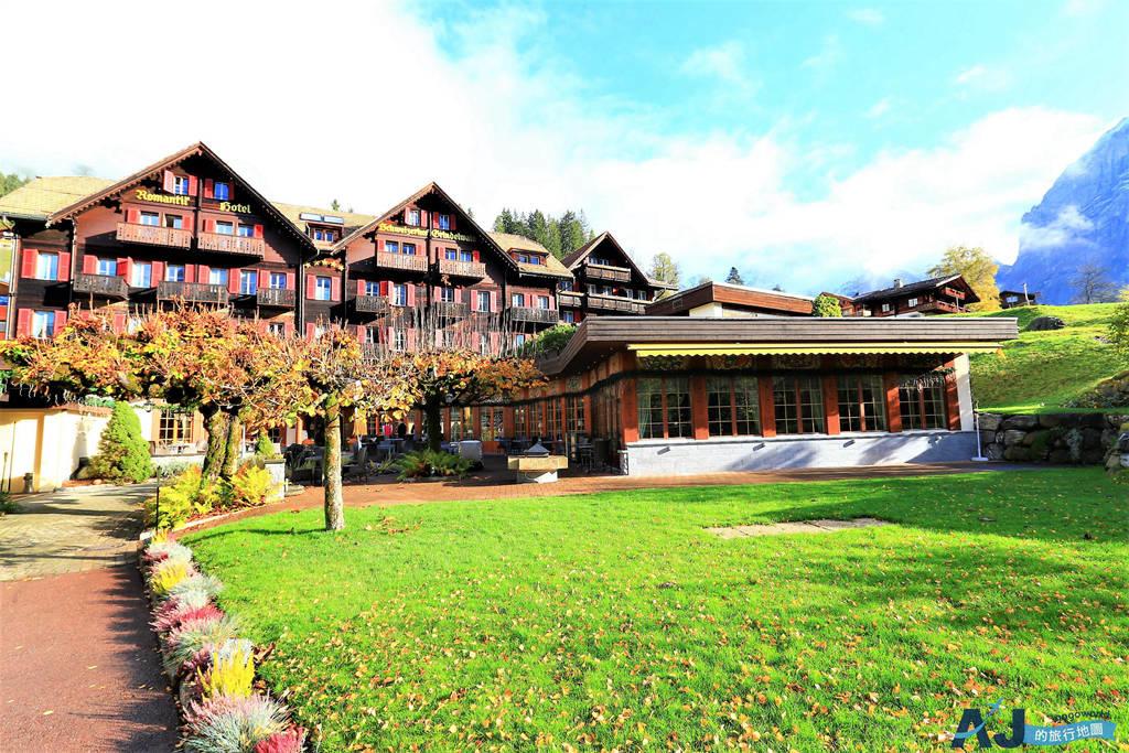 (瑞士格林德瓦住宿推薦)羅曼蒂克斯維哲霍夫酒店 Romantik Hotel Schweizerhof 山景高級房、早餐、交通分享