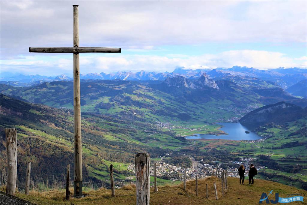 (琉森近郊景點)瑞吉山 Rigi 山中皇后 一次體驗陸海空旅行 交通與火車分享 Swiss travel pass適用